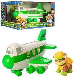 Детский игровойсамолет спасателей Legi Toys Щенячий патрульиз серии Джунгли транспорт, со щенком