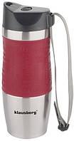 Термокружка Кlausberg КВ-7101 380мл. Сріблясто-Червона