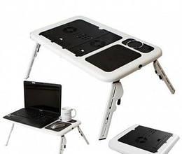 Столик-подставка для ноутбука Etable, черно-белый (102035)