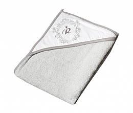 Детское махровое полотенце с капюшоном Tega Royal RL-008 100х100 см., серое