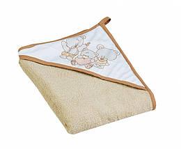 Детское махровое полотенце с капюшоном Tega Mis TG-071 100х100 см., бежевое