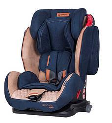 Детское автокресло Isofix 9-36 кг до 12 лет с регулировкой наклона спинки Coletto Sportivo, синее (7986)