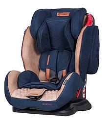 Детское автокресло от 9 месяцев до 12 лет снаклономдля сна Coletto Sportivo 9-36 кг синее (7985)