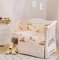 Детский постельный комплект для кроватки с бортиками Twins Eco Line E-013 6 предметов без балдахина