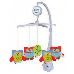 Детский музыкальный мобиль с плюшевыми игрушками механический Baby Mix 338М, Сова (3296)