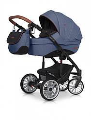 Детская коляска универсальная 2 в 1 Euro-Cart Delta, джинс (8889)
