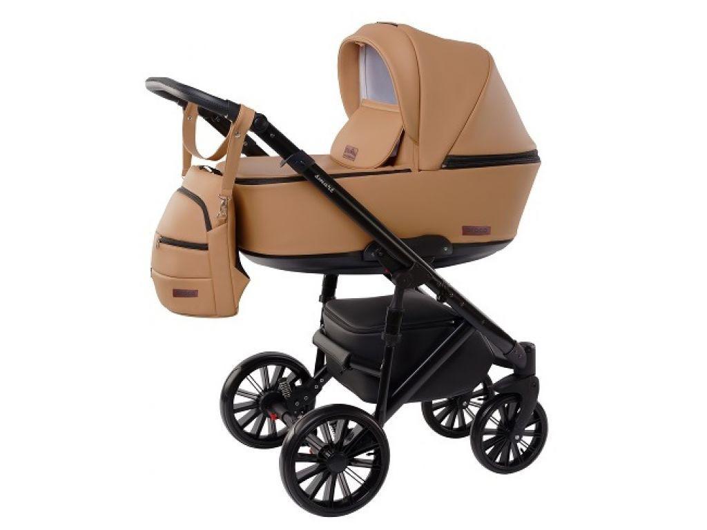 Детская универсальная коляска Broco Smart 2 в 1, бежевая (9211)