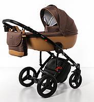 Коляска Broco Porto 2 в 1 детская универсальная , коричневый/капучино (7081)