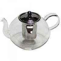 Чайник заварочный стеклянный с мет. ситом Классика 600 мл 16936-28
