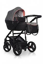 Детская универсальная коляска 2 в 1 Colibro Nesto, серый/черный (10055)