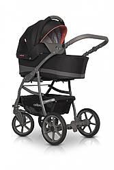 Детская универсальная коляска 2 в 1 Colibro Focus, черный/оранжевый (10059)