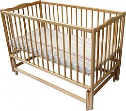 Кроватка с рождения Twins Радуга шарнир подшипник с откидным бортиком без ящика 120х60 см., натуральный (5996)