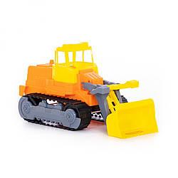"""Гусеничний трактор-погрузчик из пластика детский Polesie """"Спецмашина"""", оранжевый"""