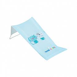 Горка для купания младенцев в ванночку 3D мембрана Tega Baby Кот и Пес PK-026, голубой