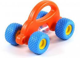 Детская игрушка-каталка Беби Грипкар Polesie Автомобиль, оранжевый, для детей от 2 лет