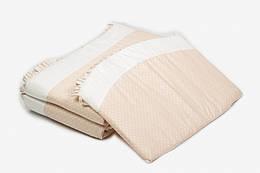 Защитные бортики, бампер на детскую кроватку 120*60 Twins Romantik R-001, бежевый