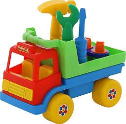 """Детский игрушечный автомобиль Polesie """"Техпомощь"""" (в сеточке), красно-зеленый"""