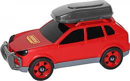 """Детский автомобиль пластиковый Polesie """"Легковой"""" (в сеточке), красный"""