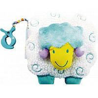 Детская игрушка мягкая книжка на прищепке для кроватки Biba Toys Овечка TE-8290 (5708)