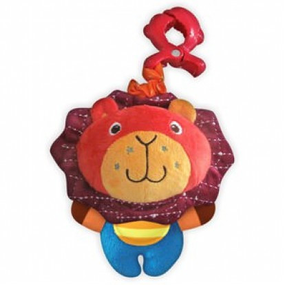 Плюшевая детская игрушка для автокресла Baby Mix P/1143-EU00 Лев с клипсой (5815)