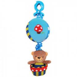 Детская мягкая игрушка для коляски Мишка на шаре с клипсой Baby Mix P / 1116-2981 (5859)
