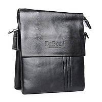 Удобная качественная сумка-планшет мужская из искусственной кожи DR. BOND (20*17*5 см), GL 305-1 black