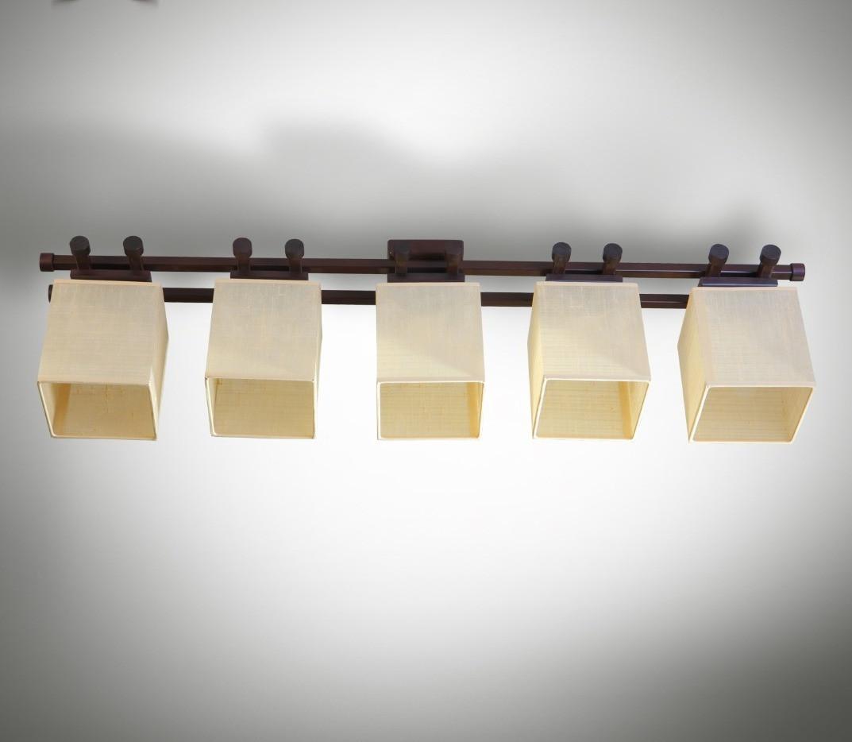 Люстра 5-ти ламповая, металлическая, с деревом, спальня, зал, гостиная 14905-3