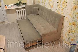 Вузький розкладний кухонний диван (Колір хакі)