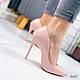Женские туфли пудра эко-лак на шпильке, фото 2