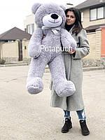 Большая мягкая игрушка Мишка Рафаель 140см серый
