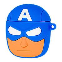 "Чехол для AirPods Marvel & DC ""captain america"""