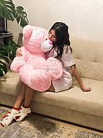 Большая мягкая игрушка Тедди 100 см розовый