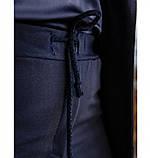 Костюм-двойка большого размера №125-темно-синий, фото 4