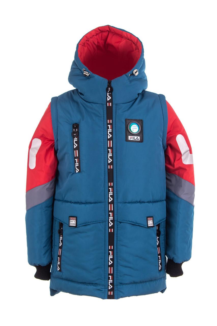 Куртка весенняя для мальчика   от производителя  34-44 джинс
