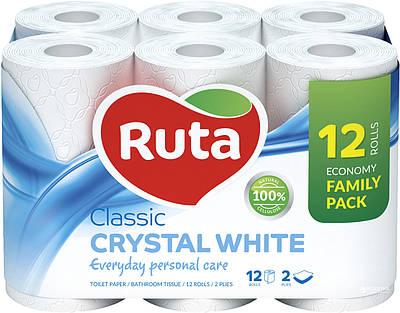"""Папір туалетний""""Ruta""""Classik білий 2ш.12рул."""