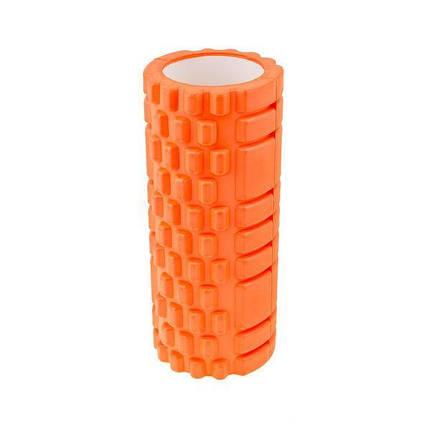 Роллер массажный 33*14см валик для фитнеса ТУБА разные цвета для йоги от усталости, фото 2