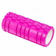 Роллер массажный 33*14см валик для фитнеса ТУБА разные цвета для йоги от усталости, фото 3