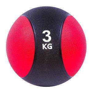 Мяч медицинский медбол на 3 кг для фитнеса мяч для силовых упражнений 22 см