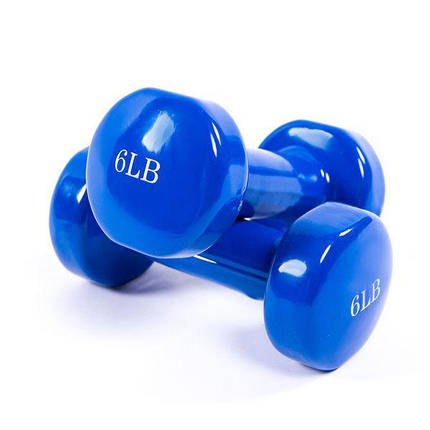 Гантелі для фітнесу 6LB 2.74 кг набір 2 шт тренувальні гантелі, фото 2