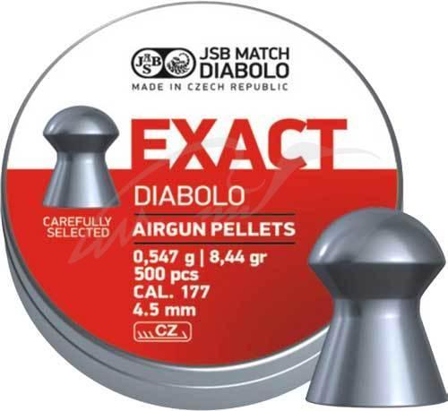 Пули пневматические JSB Diabolo Exact. Кал. 4.51 мм. Вес - 0.54 г. 500 шт/уп