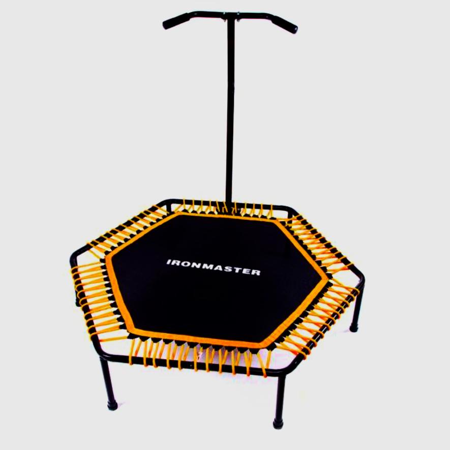 """Фитнес-батут с ручкой IronMaster для джампинг 50"""" 127 см для прыжков"""