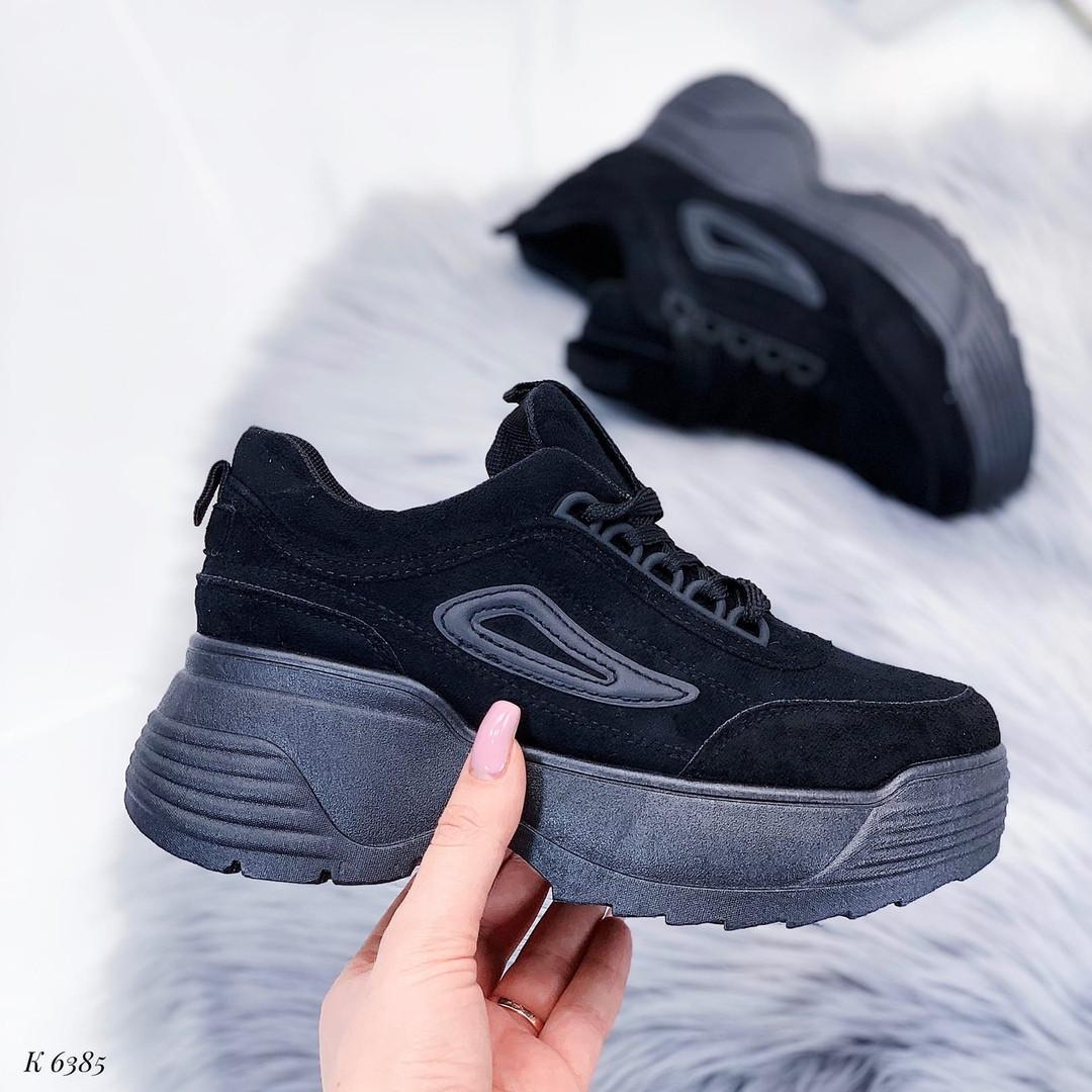 Черные красивые кроссовки женские