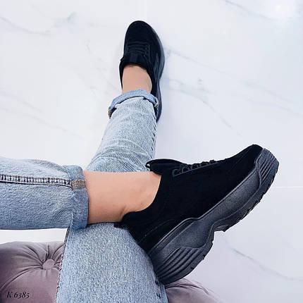 Черные красивые кроссовки женские, фото 2