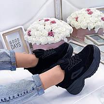 Черные красивые кроссовки женские, фото 3