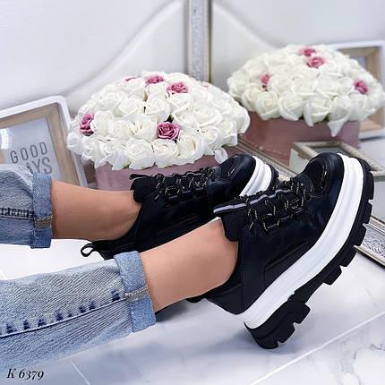 Черные кроссовки с большой подошвой, фото 2