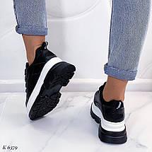 Черные кроссовки с большой подошвой, фото 3