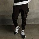 Штаны карго мужские черные бренд ТУР модель Вейдер (Vader), фото 6