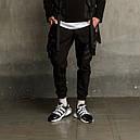 Штаны карго мужские черные бренд ТУР модель Вейдер (Vader), фото 7