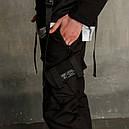 Штаны карго мужские черные бренд ТУР модель Вейдер (Vader), фото 3