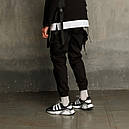 Штаны карго мужские черные бренд ТУР модель Вейдер (Vader), фото 9